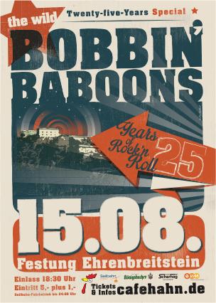 Bobbin' Baboons feiern 25 jähriges Bandjubiläum