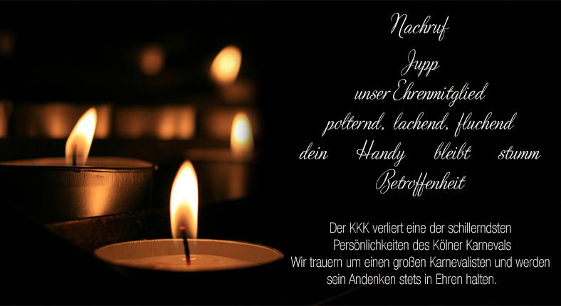 """Nachruf – Josef """"Jupp"""" Lutter"""