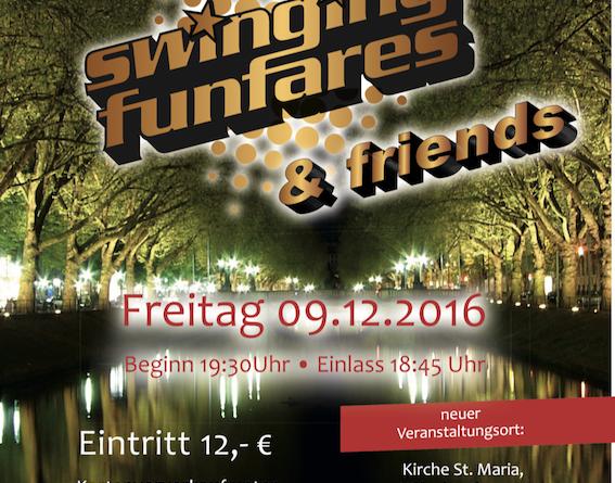"""Weihnachtskonzert """"Swining Funfares & Friends"""" am Freitag, 09.12.16"""