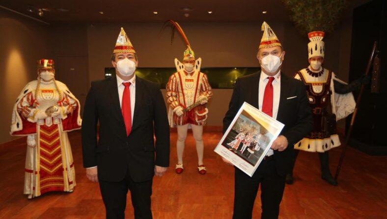 Der KKK beim Empfang des Kölner Dreigestirns